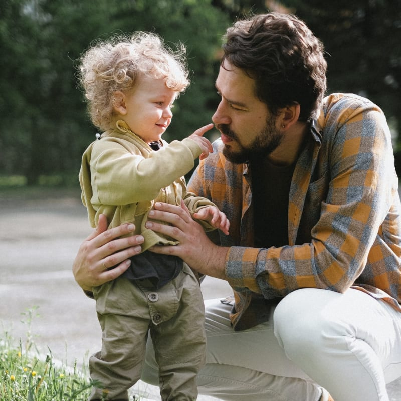 son playing with dad
