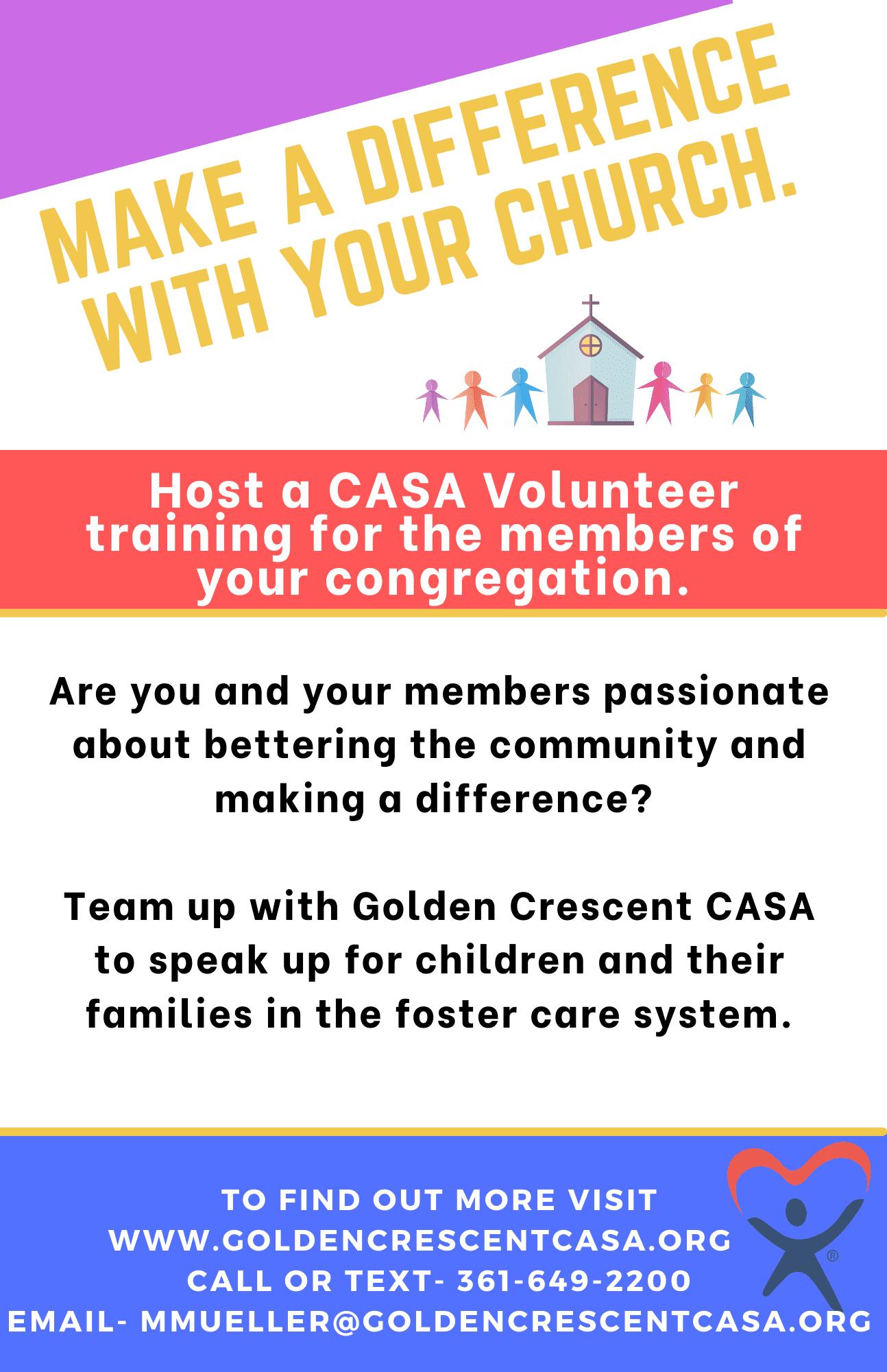 Volunteer Training Schedule